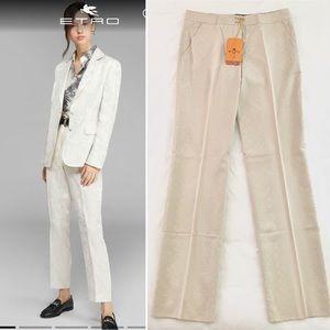 Etro Jacquard Cotton Silk Trouser NWT